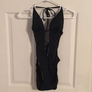 Sexy black one piece cut out bathing suit